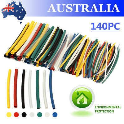 140Pcs 5 Sizes Assorted Electrical Cable Heat Shrink Tube Tubing Wrap Sleeving