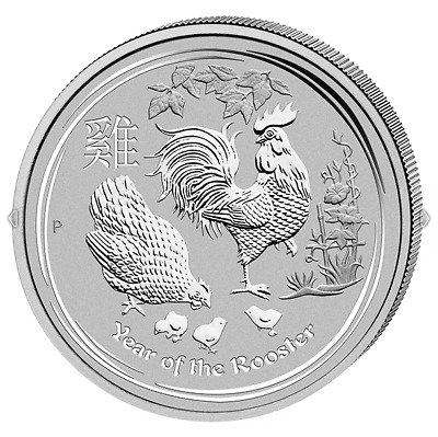 1$ Silber / Silver Australien Lunar II Hahn / Year of the Rooster 2017 1 OZ