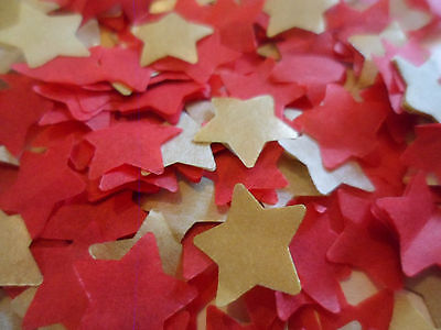 1500/Red & Gold/Tissue/Wedding /Party/Christmas/Confetti/Stars/Decoration