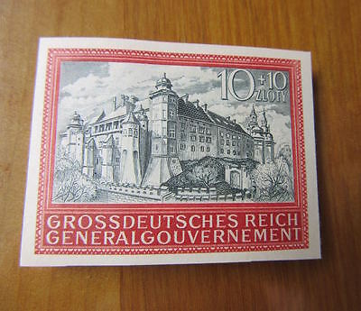 EBS Generalgouvernement 1944 5th Anniversary Occupation IMPERF Michel 125 MH*