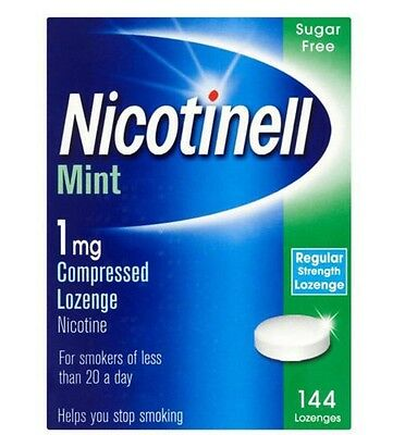 Nicotinell Mint  1mg Compressed 144 Lozenge Nicotine Sugar Free Exp 09/2018