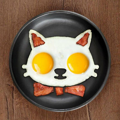 Kitchen Silicone Cat Egg Shaper Cat Fried Eggs Mould Cute Interesting Mould UE