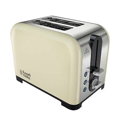 Russell Hobbs 22393 Canterbury 2 Slice Wide Slot Defrost/Reheat Toaster in Cream