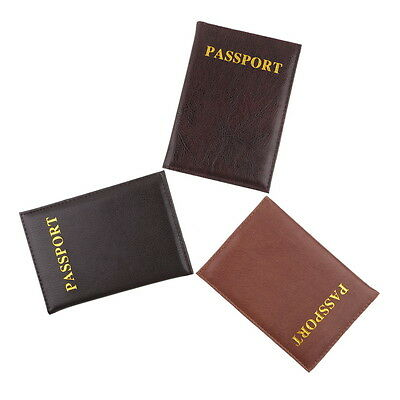 New Travel Passport Holder Protector Cover Wallet Pouch PU Leather Cover Case UE