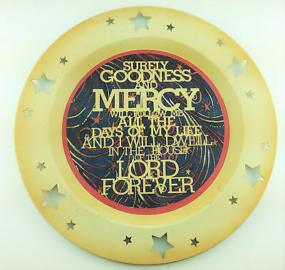 AG Designs Patriotic Decor - Metal Charger Plate - Gold Verse Psalm 23:6 4-4/13