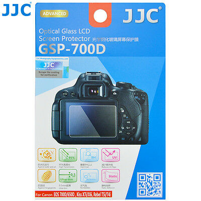 JJC GSP-700D Optical Glass LCD Screen Protector for Canon 700D 650D X7i X6i T5i