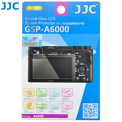 JJC Optical Glass LCD Screen Protector for Sony A6000 A6300 NEX7/6 NEX3N A5000