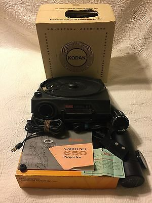 KODAK Carousel 650 Projector in Box W/ Tray, Lens, Remote, Manual & Power Cable