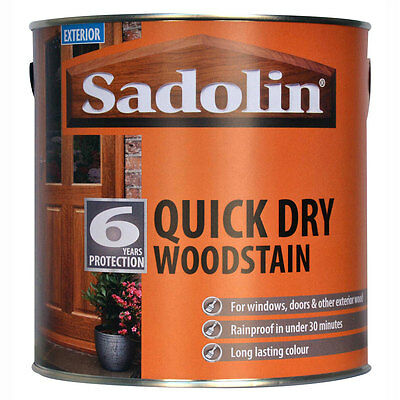 Sadolin Quick Dry Woodstain - 6 Year Protection Exterior Wood 2.5L - All Colours