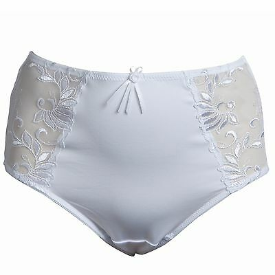Pour Moi Imogen Rose Embroidery Brief- White (3804B)
