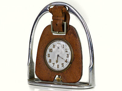 c1920 Equestrian Desktop Ornament Dashboard Clock
