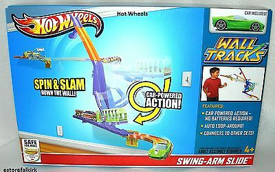 BRAND NEW Hot Wheels Wall Tracks Toy Set See saw Smash Toy Car Included GIFT