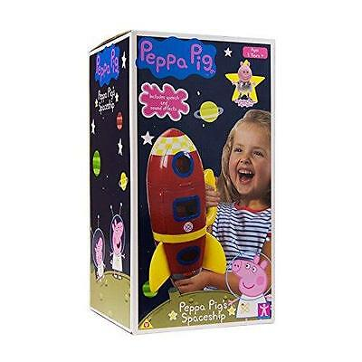 New Peppa Pig Red Spaceship Rocket With Sound