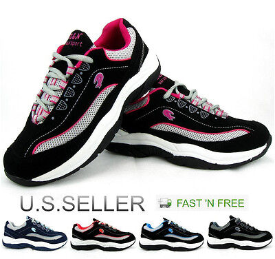 Women's Athletic Sneakers Tennis Shoes Casual Walking Running Lace Up Standing