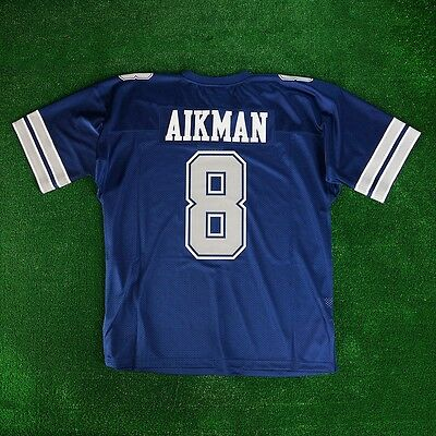 1992 Troy Aikman Dallas Cowboys Mitchell   Ness Navy Authentic Jersey Men s 5bfb6b9ff