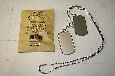 Ww2 Us Army Gi  Dog Tag And Chain  Repoduction