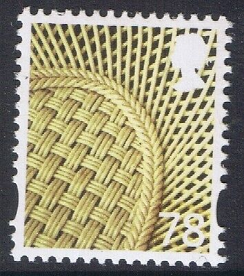 GB QEII MNH Northern Ireland. SG NI128 78p Vase Pattern Regional Definitive