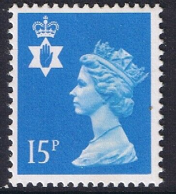 GB QEII Northern Ireland. SG NI40 15p Bright Blue CB Regional Machin 10% OFF 5+