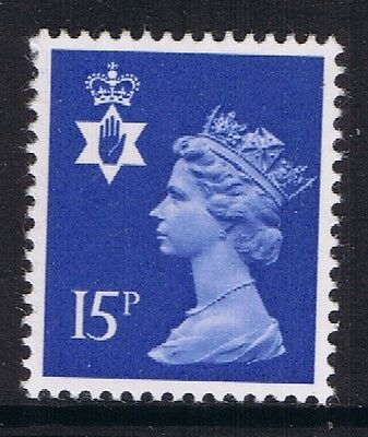 GB QEII Northern Ireland. SG NI33 15p Ultramarine PP. Regional Machin 10% OFF 5+