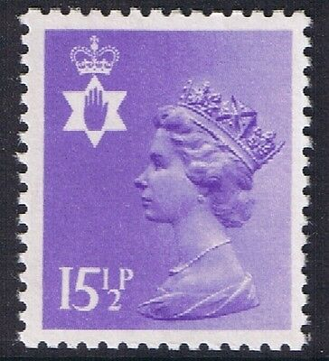 GB QEII Northern Ireland. SG NI41 15 1/2p Pale Violet PP. Regional Machin