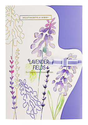 Heathcote & Ivory Wild English Lavender Luxury Fragranced Drawer Liners