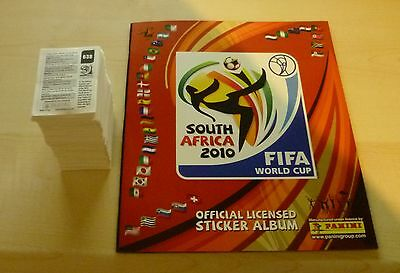 Panini World Cup stickers 2010 loose complete set of 640 MInt + Empty Album  UK
