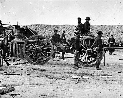 New 8x10 Civil War Photo: Federal Soldiers Removing Confederate Artillery