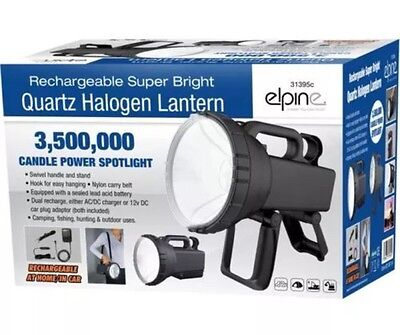 3.5 Million Candle Power Led Torch Spotlight Halogen Flashlight Rechargeable