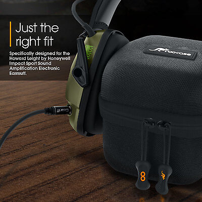 rooCASE Travel Carrying Bag Case for Howard Leight Impact Sport Electric Earmuff