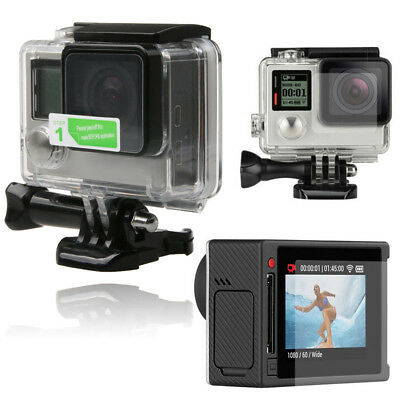 2in1 Clear LCD Screen Protector + Housing Lens Shield Film Fr GoPro Hero4 Silver