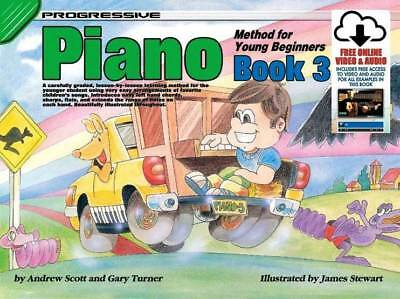 Progressive Piano Method for Young Beginners: Book 3 includes Cd
