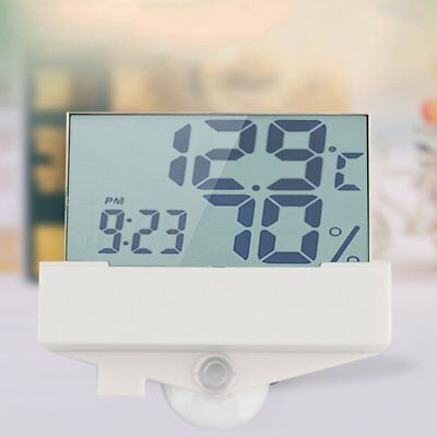 LOT LCD Digital Display Thermometer Window Indoor Car Mirror Temperature Test LO