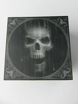 "Anne Stokes ""The Watcher"" Jewellery Trinket Box with Mirror Skull Gothic"