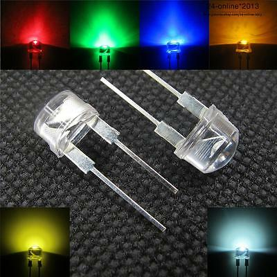 8mm 0.5W high power Staw hat 190° angle LED waterclear light-emitting diodes