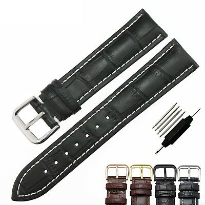 Croco Genuine Leather Watch Band Strap Replacement 18 19 20 21 22 23 24 26 mm