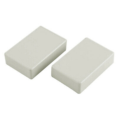 Electronics Plastic Water Resistant DIY Enclosure Junction Box Case White 2 Pcs