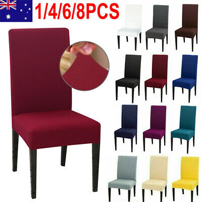 4/6pcs Stretch Lycra Dining Chair Cover Removable Slipcover Wedding BanquetParty