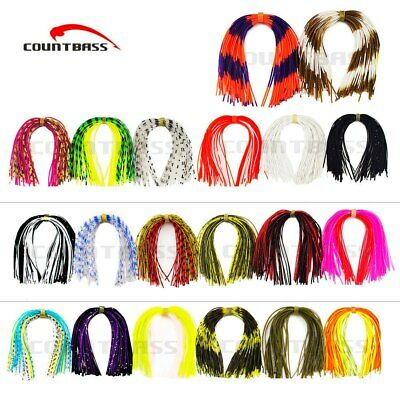 20 Bundles Silicone Skirts For Diy Spinnerbaits Buzzbaits Rubber Jig Mixed Color