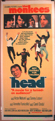 The Monkee's  Head Movie Poster Australian Daybill 13 By 30 Inches
