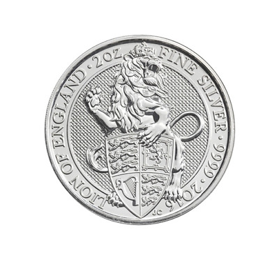 "5£ Silber / Silver Großbritannien / UK The Queen´s Beasts ""The Lion"" 2016 2 OZ"