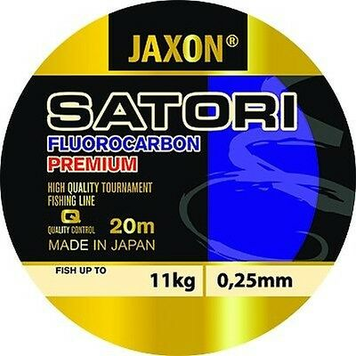 Jaxon Satori Japan Fluorocarbon fishing line 20m/ Pike/Course/Trout/Salmon