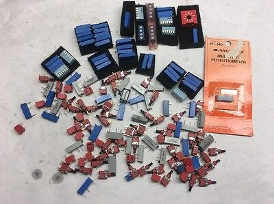 Circuit Board Potentiometer And Push button Assorted Bulk Lot Surface Mount Asst