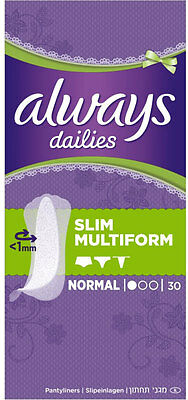 Always Dailies Pantyliners Incredibly Thin Flexistyle Perfume Free (30)