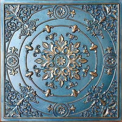 PL18 Faux finishes tin metalized gold ceiling tiles decor wall panels 10tile/lot
