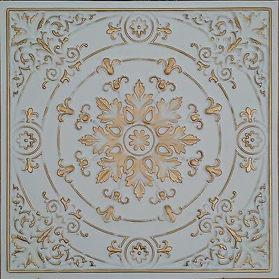 PL18 Faux finishes tin victoria gold ceiling tiles decor wall panels 10tile/lot