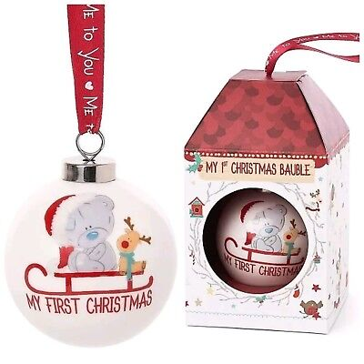 Me To You Baby's First Christmas Bauble Tree Decoration Tiny Tatty Teddy
