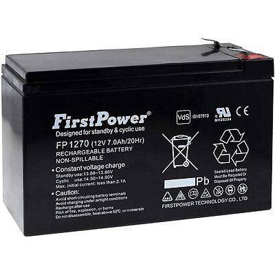 Batterie gel-plomb FirstPower pour USV APC Back-UPS RS 500 7Ah 12V 12V 7Ah/84Wh