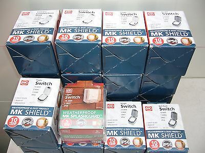 Job Lot Of 20 New Mk  Ip56 Weatherproof  Switches & Bell Pushes Ect.