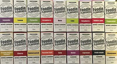 Foodie Flavours 15ml Natural Concentrated - GREAT SAVINGS ON BULK BUYS