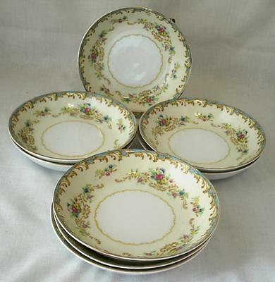 Imperial China Japan - Jacqueline - 8 Fruit / Sauce Bowls - Blue Edge